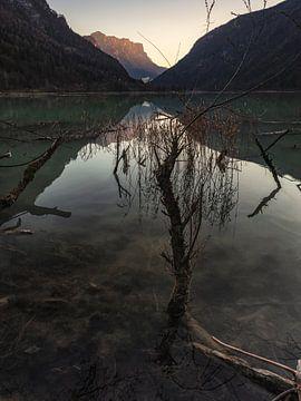 Sonnenuntergang am Saalachsee von Thomas Weber