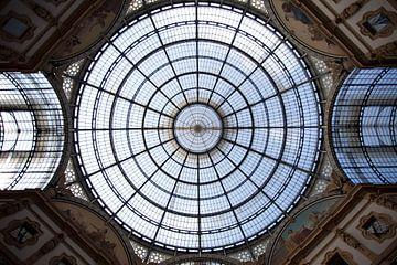Dak van Galleria Vittorio Emanuele II, Milaan, Italie van Kees van Dun