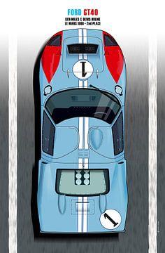 Miles-Hulme GT40 van Theodor Decker