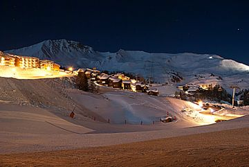 La Plagne - Savoie - Frankrijk - Nachtportret van Maurits Simons