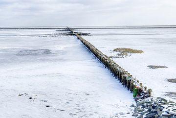 Ijs en sneeuw op het wad van Marnefoto .nl