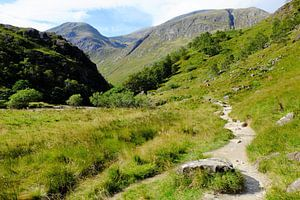 Schotland, de dalen en bergen bij Ben Nevis