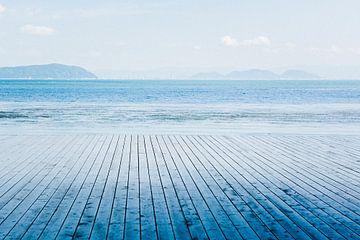 Een zee van blauw van