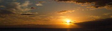 panorama zonsondergang Gran Canaria Spanje van Bas van Mook