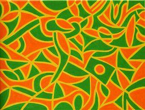 yellow orange green