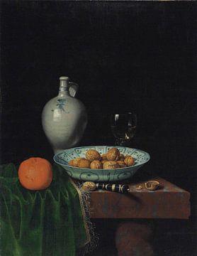 Walnuts in a Wan-Li  Porcelain Bowl van Antonije Lazovic