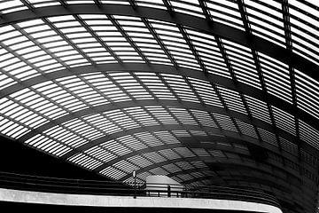Dak van busstation van Bart Rondeel