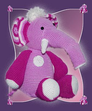 Roze olifant voor kinderkamer van CreaBrig Fotografie