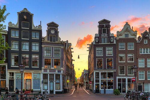 Singel sunset Amsterdam von Dennis van de Water