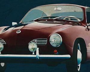 Volkswagen Karmann Ghia 1959 Voorkant van Jan Keteleer