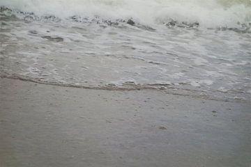 Luchtbellen in Zeewater met Schuimende Golven - Schilderij