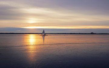IJszeilen op het Zuidlaardermeer van Marga Vroom