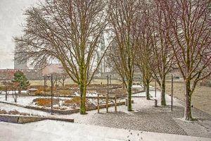 Winterbeeld Leuvehoofd van Frans Blok