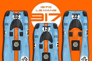 3 x 917 au Mans 1970