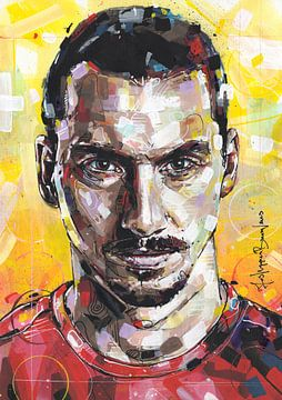 Zlatan Ibrahimovic Malerei von Jos Hoppenbrouwers