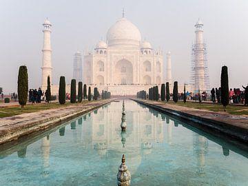 Weerspiegeling van de Taj Mahal van Shanti Hesse