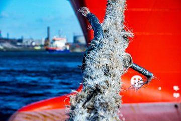 Schepen afgemeerd in de haven IJmuiden. van scheepskijkerhavenfotografie