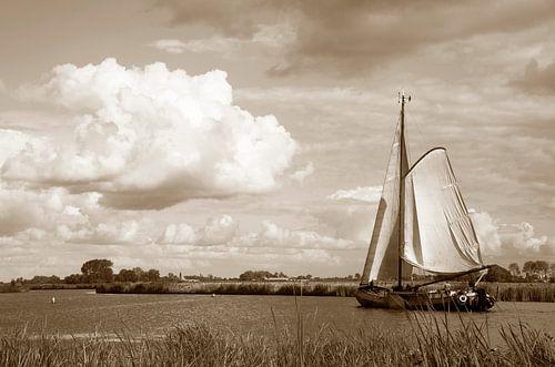Zeilen door Friesland van