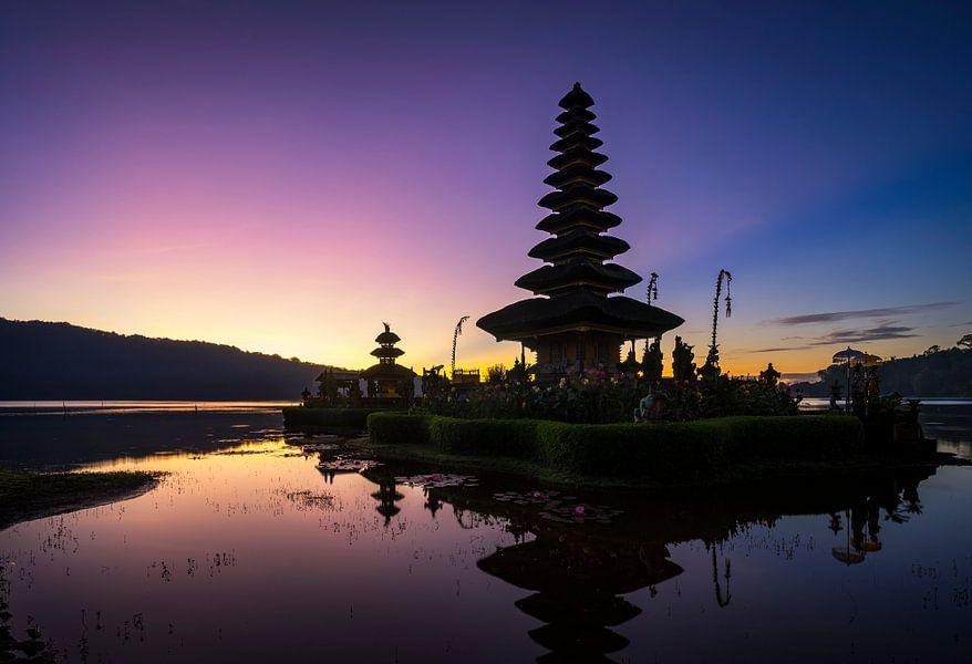 Pura Ulun Danu Bratan watertempel op Bali