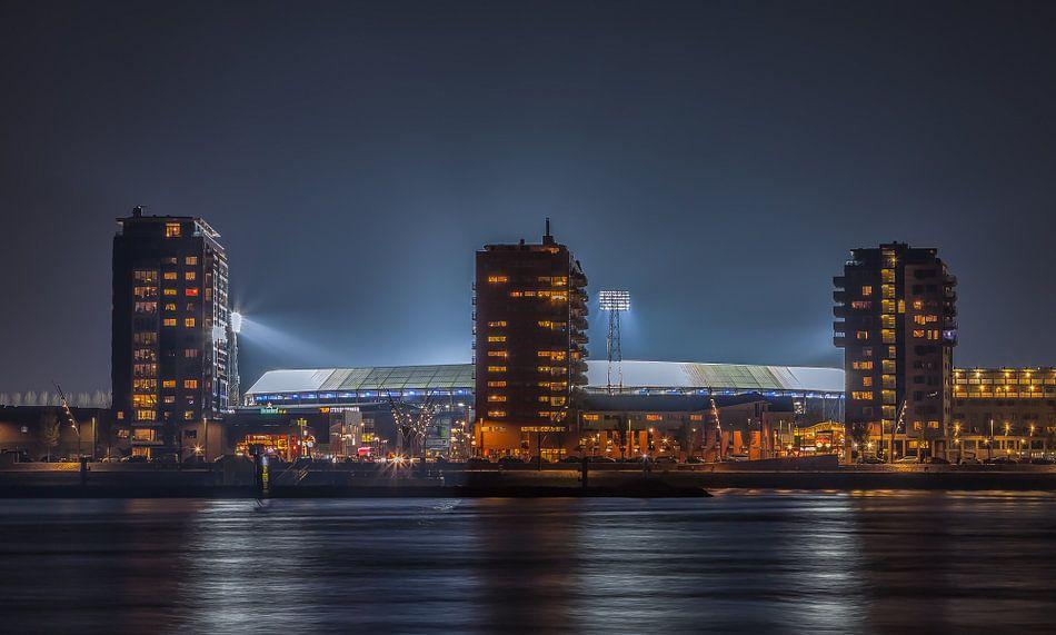 Feyenoord-Stadion De Kuip während eines Europa-Liga-Abends von Tux Photography