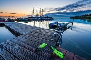 Der Leekster See bei Sonnenaufgang.