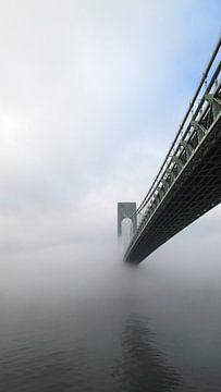 Brug bij New York in de mist von Gilian Fijen