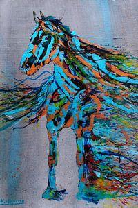 Friese merrie schilderij van Kim van Beveren