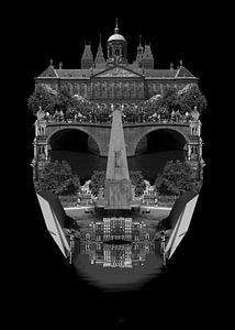 Amsterdamer Stadtbildarchitektur - SCHWARZ von CityCreatives