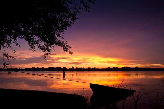 Kralingen sunset van Niels de Jong