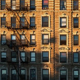 Karakteristieke gevel New York City van JPWFoto