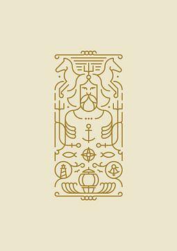 Poseidon (gold) van Rene Hamann