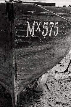 Details van een boot in zwart wit von Anne Meyer