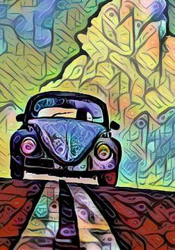 Mein VW Käfer - Mosaik von Michael Ladenthin