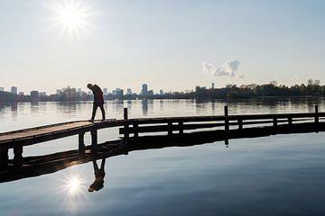 Perlenpfütze Rotterdam. Wander- und Erholungsgebiet in der Nähe des Stadtzentrums von Rotterdam von Rick van der Poorten