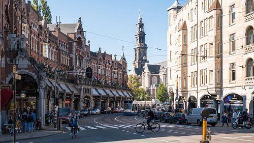Raadhuisstraat met Westerkerk van Tom Elst