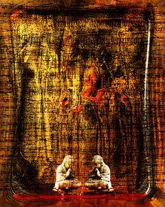 Twee buddha's gevangen in het betoverde bos van Andie Daleboudt