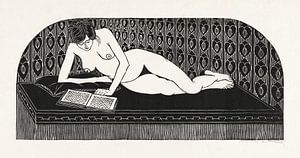 Liegender Akt, ein Buch lesend, Samuel Jessurun de Mesquita (1913)