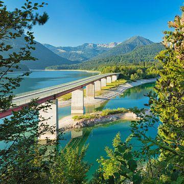 Sylvensteinsee, Duitse Alpenroute, Beieren, Duitsland van Markus Lange