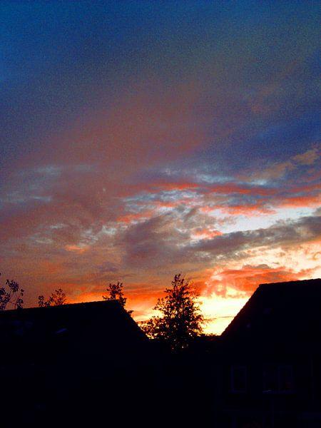 zonsondergang van Frank Kleijn