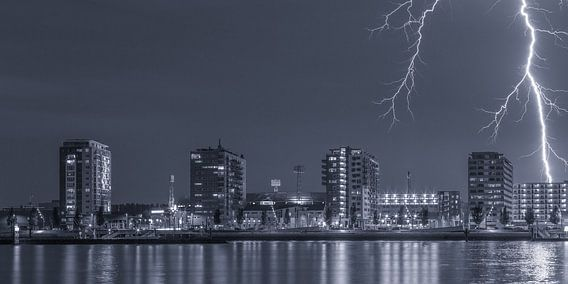 De Kuip met bliksem inslag - Feyenoord Rotterdam (7)