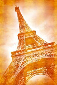 EIFFEL tower Classic in rood goud van Melanie Viola