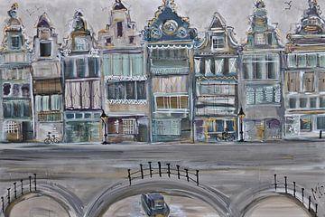 Kanäle Niederlande von Kunstenares Mir Mirthe Kolkman van der Klip