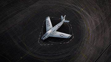 F86 Sabre, Flugzeug am Soesterberg von Sebastiaan van der Ham