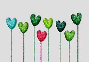 kleurrijke harten