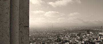 Parijs overzicht vanaf Sacré Couer von Jacqueline van Leeuwen