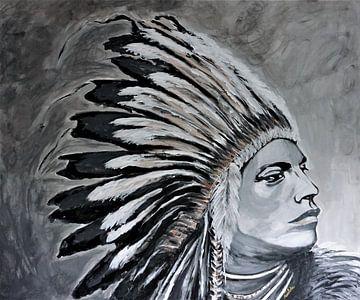 Indiaan van Marielistic-Art
