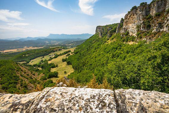 Uitzicht over de bergen, en Europesche Alpen