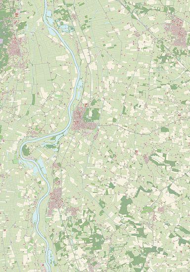 Kaart vanOlst-Wijhe