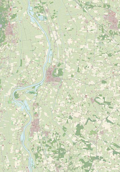 Kaart vanOlst-Wijhe van Rebel Ontwerp