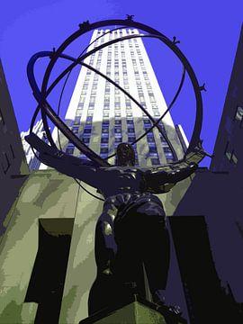 Atlas bij Rockefeller Center van Arty Crafty